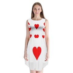 Cart Heart 03 Tre Cuori Sleeveless Chiffon Dress