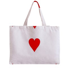 Cart Heart 03 Tre Cuori Medium Zipper Tote Bag