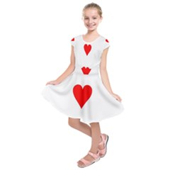 Cart Heart 03 Tre Cuori Kids  Short Sleeve Dress