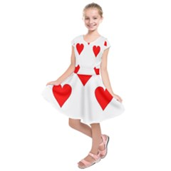 Cart Heart 07 Sette Cuori Kids  Short Sleeve Dress