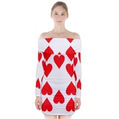 Cart Heart 10 Dieci Cuori Long Sleeve Off Shoulder Dress