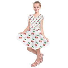 Cerry Fruite Red Kids  Short Sleeve Dress