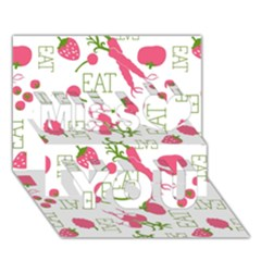 Eat Pattern Tomato Cerry Friute Miss You 3d Greeting Card (7x5)