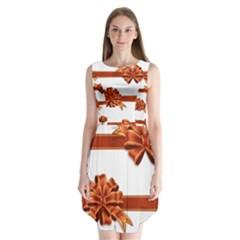Gift Ribbons Sleeveless Chiffon Dress
