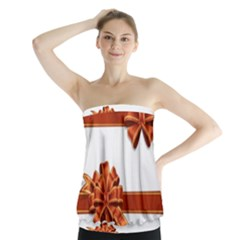Gift Ribbons Strapless Top