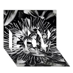 Black And White Passion Flower Passiflora  Boy 3d Greeting Card (7x5)