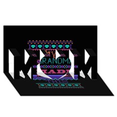My Grandma Made This Ugly Holiday Black Background Mom 3d Greeting Card (8x4)