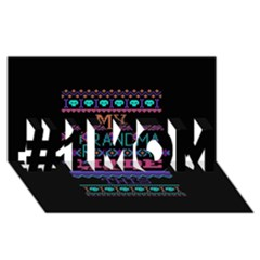 My Grandma Made This Ugly Holiday Black Background #1 Mom 3d Greeting Cards (8x4)