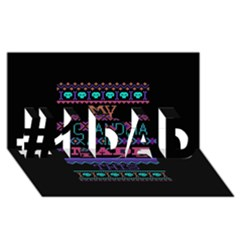 My Grandma Made This Ugly Holiday Black Background #1 Dad 3d Greeting Card (8x4)