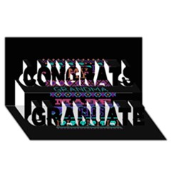 My Grandma Made This Ugly Holiday Black Background Congrats Graduate 3D Greeting Card (8x4)