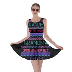 My Grandma Made This Ugly Holiday Black Background Skater Dress