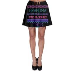 My Grandma Made This Ugly Holiday Black Background Skater Skirt