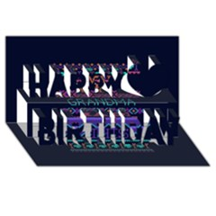 My Grandma Made This Ugly Holiday Blue Background Happy Birthday 3D Greeting Card (8x4)