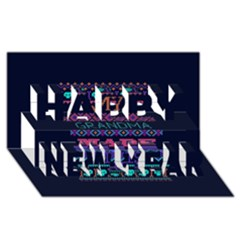 My Grandma Made This Ugly Holiday Blue Background Happy New Year 3d Greeting Card (8x4)