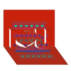 My Grandma Made This Ugly Holiday Red Background I Love You 3d Greeting Card (7x5)
