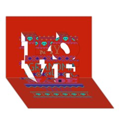 My Grandma Made This Ugly Holiday Red Background Love 3d Greeting Card (7x5)