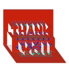 My Grandma Made This Ugly Holiday Red Background Thank You 3d Greeting Card (7x5)