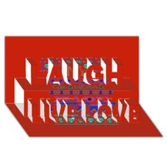 My Grandma Made This Ugly Holiday Red Background Laugh Live Love 3d Greeting Card (8x4)