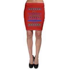 My Grandma Made This Ugly Holiday Red Background Bodycon Skirt