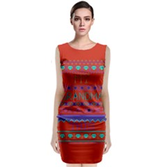 My Grandma Made This Ugly Holiday Red Background Classic Sleeveless Midi Dress