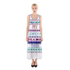 My Grandma Made This Ugly Holiday Sleeveless Maxi Dress