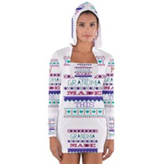 My Grandma Made This Ugly Holiday Women s Long Sleeve Hooded T Shirt