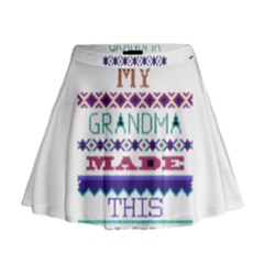 My Grandma Made This Ugly Holiday Mini Flare Skirt