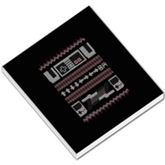 Old School Ugly Holiday Christmas Black Background Small Memo Pads
