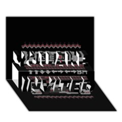 Old School Ugly Holiday Christmas Black Background You Are Invited 3d Greeting Card (7x5)