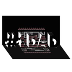 Old School Ugly Holiday Christmas Black Background #1 Dad 3d Greeting Card (8x4)