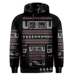 Old School Ugly Holiday Christmas Black Background Men s Pullover Hoodie