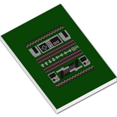 Old School Ugly Holiday Christmas Green Background Large Memo Pads