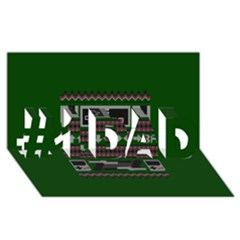 Old School Ugly Holiday Christmas Green Background #1 Dad 3d Greeting Card (8x4)