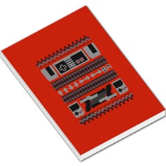 Old School Ugly Holiday Christmas Red Background Large Memo Pads