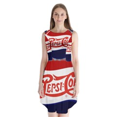 Pepsi Cola Sleeveless Chiffon Dress