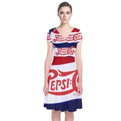 Pepsi Cola Short Sleeve Front Wrap Dress