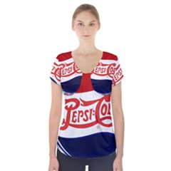 Pepsi Cola Short Sleeve Front Detail Top
