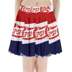 Pepsi Cola Pleated Mini Skirt