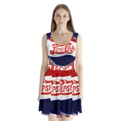 Pepsi Cola Split Back Mini Dress