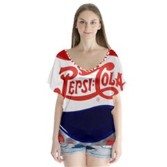Pepsi Cola Flutter Sleeve Top