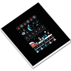 That Snow Moon Star Wars  Ugly Holiday Christmas Black Background Small Memo Pads