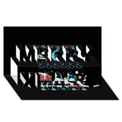 That Snow Moon Star Wars  Ugly Holiday Christmas Black Background Merry Xmas 3d Greeting Card (8x4)