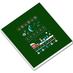 That Snow Moon Star Wars  Ugly Holiday Christmas Green Background Small Memo Pads