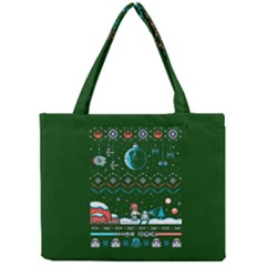 That Snow Moon Star Wars  Ugly Holiday Christmas Green Background Mini Tote Bag