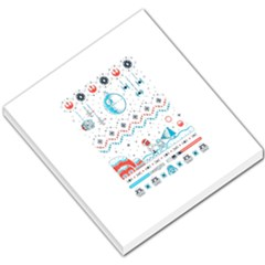 That Snow Moon Star Wars  Ugly Holiday Christmas Small Memo Pads
