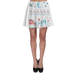 That Snow Moon Star Wars  Ugly Holiday Christmas Skater Skirt
