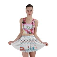 That Snow Moon Star Wars  Ugly Holiday Christmas Mini Skirt