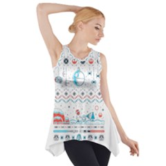 That Snow Moon Star Wars  Ugly Holiday Christmas Side Drop Tank Tunic