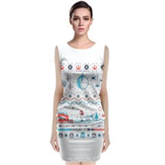 That Snow Moon Star Wars  Ugly Holiday Christmas Classic Sleeveless Midi Dress