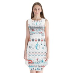 That Snow Moon Star Wars  Ugly Holiday Christmas Sleeveless Chiffon Dress